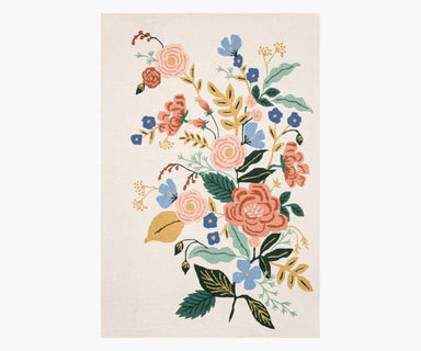 Rifle Paper Co. x Loloi Les Fleurs Rug - Floral Vines Ivory Rug Rifle Paper Co.