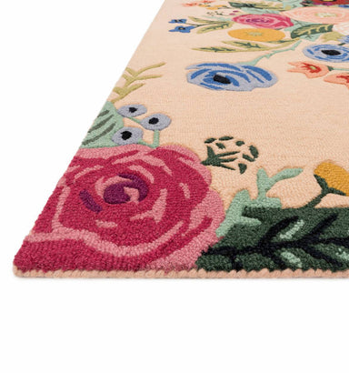 Rifle Paper Co. x Loloi Les Fleurs Rug - Juliet Rose Bouquet Blush Rug Rifle Paper Co.