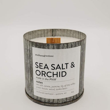 Sea Salt & Orchid Candle Candle Anchored Northwest