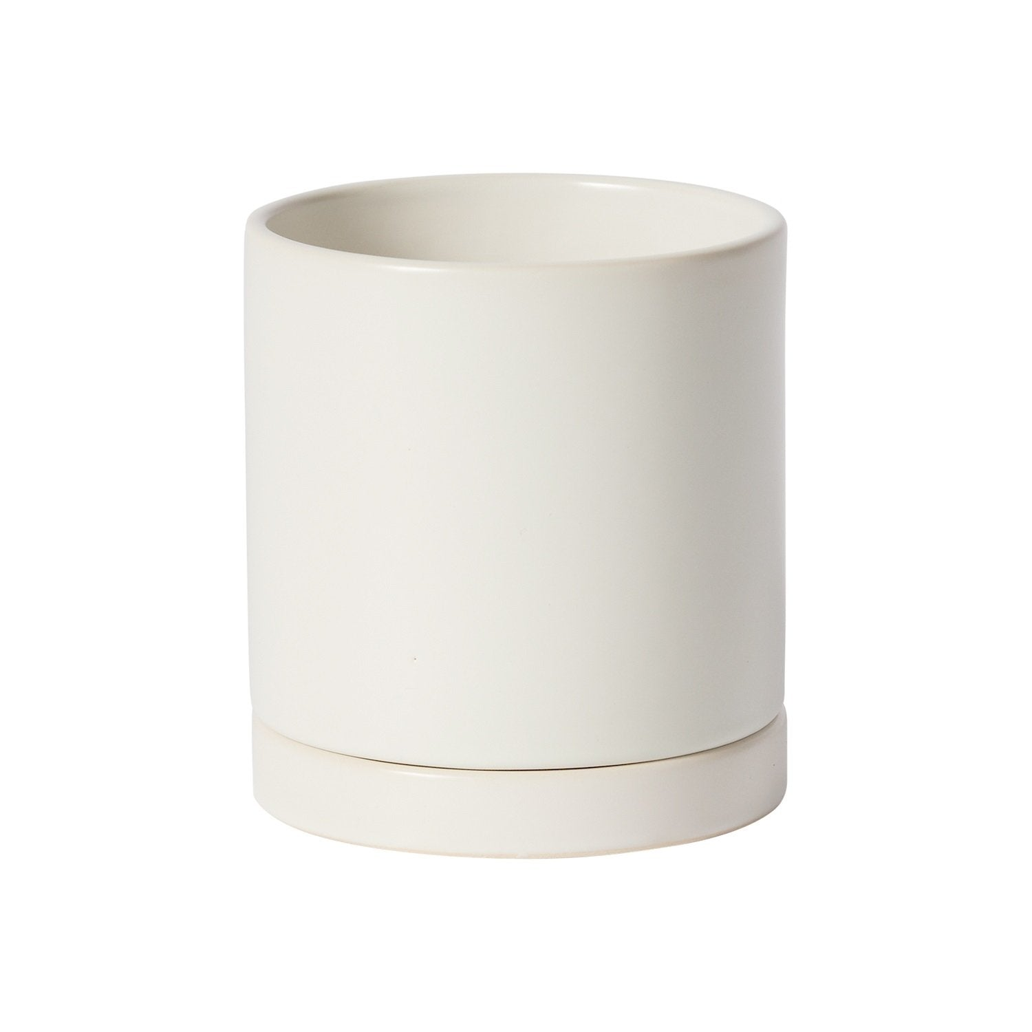 "Small 4.25"" Romey Pot Planter Accent Decor White"