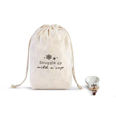 Snowflake Coffee Bag w/ Scoop Kitchen Demdaco Snuggle up with a cup