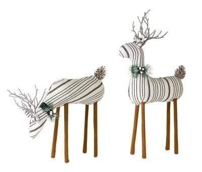 Striped Holiday Deer Holiday Decor Melrose International