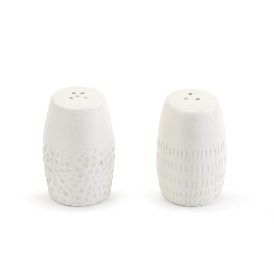 Textured Salt & Pepper Shaker Set Salt & Pepper Demdaco
