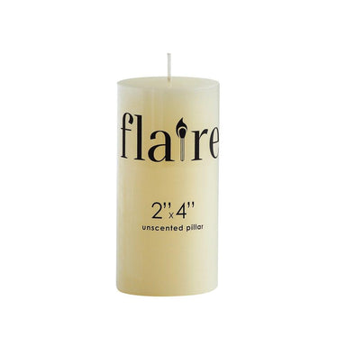"Unscented Pillar Candle Candle Creative Coop 2"" Rnd x 4""H"