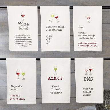 Wine Hand Towels Tea Towel Mud Pie
