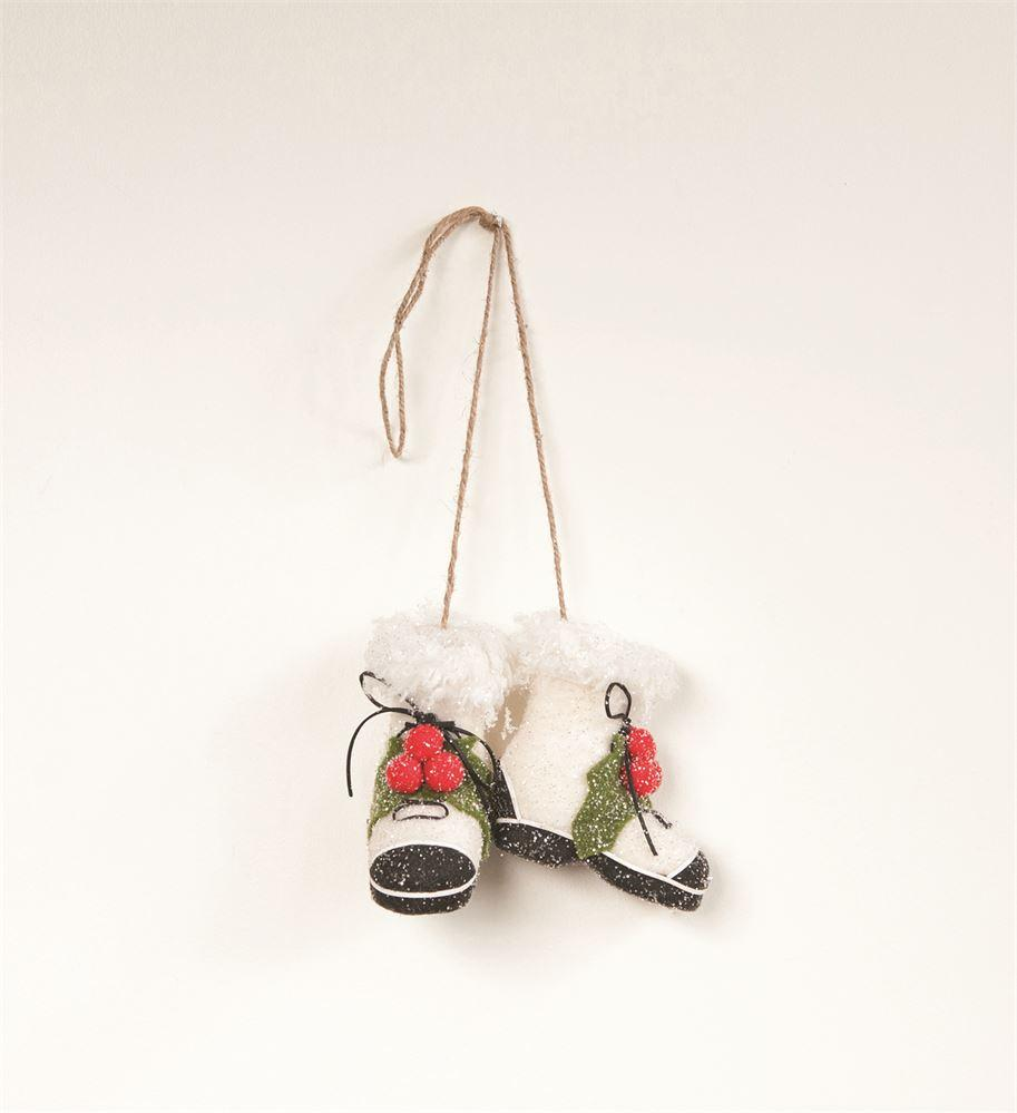 Winter Boot Pair Ornament Holiday Decor Creative Coop