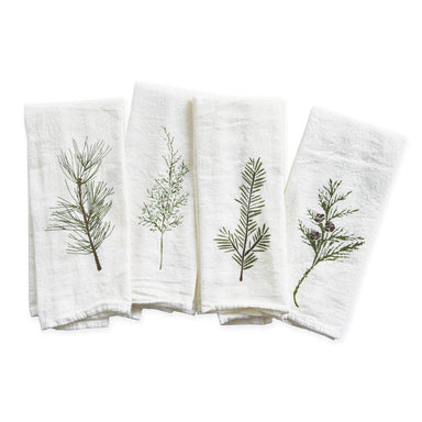 Winter Greens Napkins, Set of 4 Napkin June & December