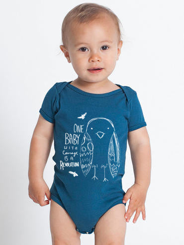 One Baby With Courage Is A Revolution Baby Onesie