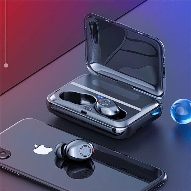 Headphone Bluetooth 5.0 Graphene Earphone Stereo Digital Display Wireless Headset Power Bank - Carolina Superstore