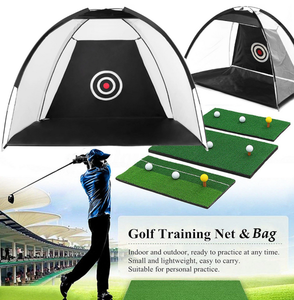 Hunters Creek™ 7FT Golf Net Training Aid Hitting Practice Lawn Driving Net Golf Training Net - Carolina Superstore