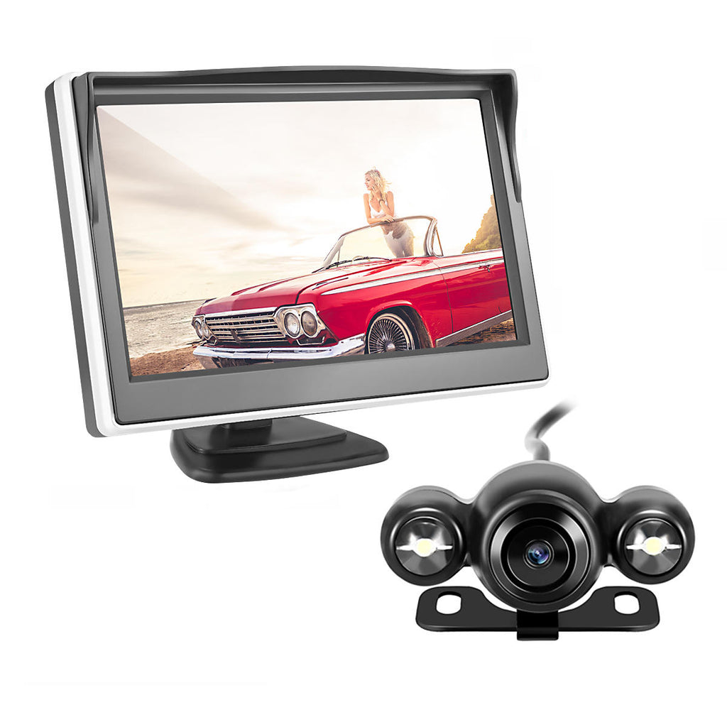 Car Rear View LCD Monitor Kit Wireless Reverse Backup Security Camera Night Vision - Carolina Superstore