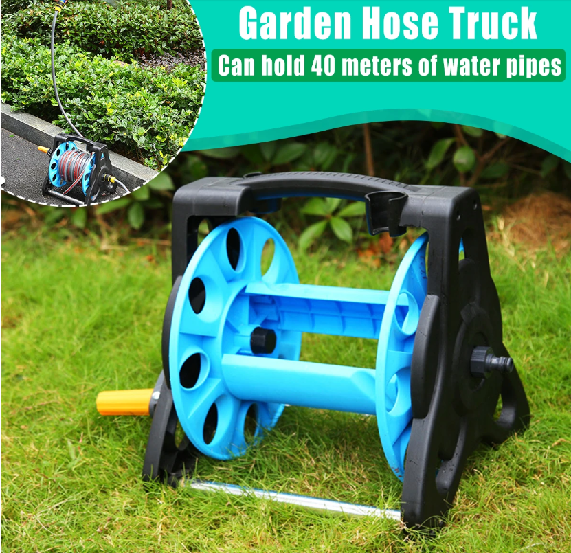Hunters Creek™ Garden Water Hose Reel Truck Portable Watering Soaker Spray Pipe Cart Trolley Storage Case - Carolina Superstore