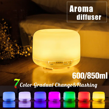 Hunters Creek™ Essential Oil Diffuser Humidifiers Remote Control Ultrasonic Aromatherapy Diffusers 7 Color LED Lights Aroma Essential Diffuser Air Humidifier - 850ML - Carolina Superstore