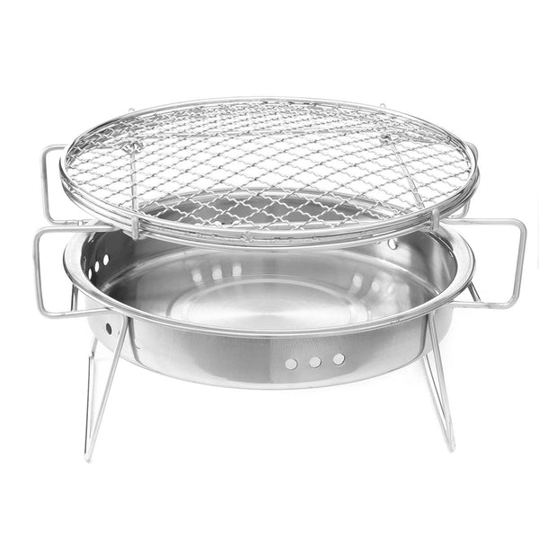 Portable Folding Barbecue BBQ Charcoal Grill Stainless Steel Patio Camping Picnic Cooking Stove - Carolina Superstore