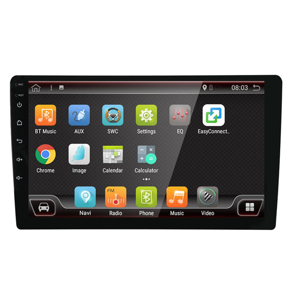 Car Stereo Radio 9 Inch 2 DIN for Android 4 Core Touch Screen 4G bluetooth FM AM RDS GPS DAB - Carolina Superstore