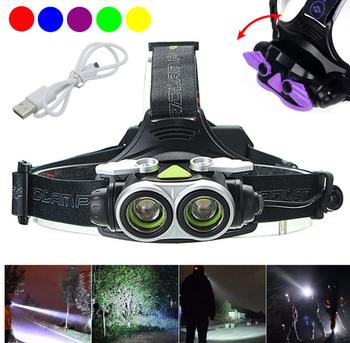 Hunters Creek™ T6 LED USB Rechargeable Headlamp Outdoor Waterproof Head Lamp Torch Ultra Bright Search Head Light - Carolina Superstore