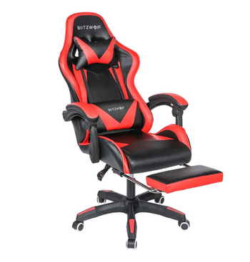 Hunters Creek™ Gaming Chair Ergonomic Design 150°Reclining Detachable Pillows Footrest Integrated Armrest Home Office - Carolina Superstore