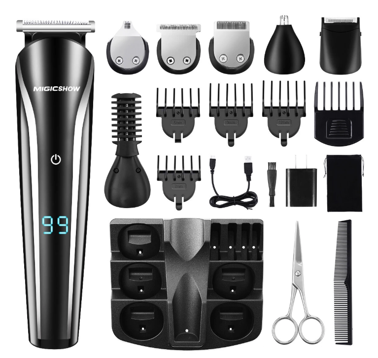 Hunters Creek™ Professional Hair Trimmer Mens Beard Trimmer Shaving 11 In 1 Electric Hair Trimmer Shaver Remove Nose Hair Ears Body Underarm Legs Waterproof - Carolina Superstore