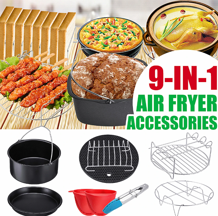 Hunters Creek™ Air Fryer Accessories Kitchen Fryer Pizza Pan Bread Shell Frying Pan Mutifunctional - Carolina Superstore