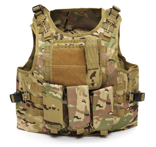 Hunters Creek™ Outdoor Tactical Military Vest Sports Hunting Hiking Climbing Plate Carrier Paintball Combat Vest - Carolina Superstore