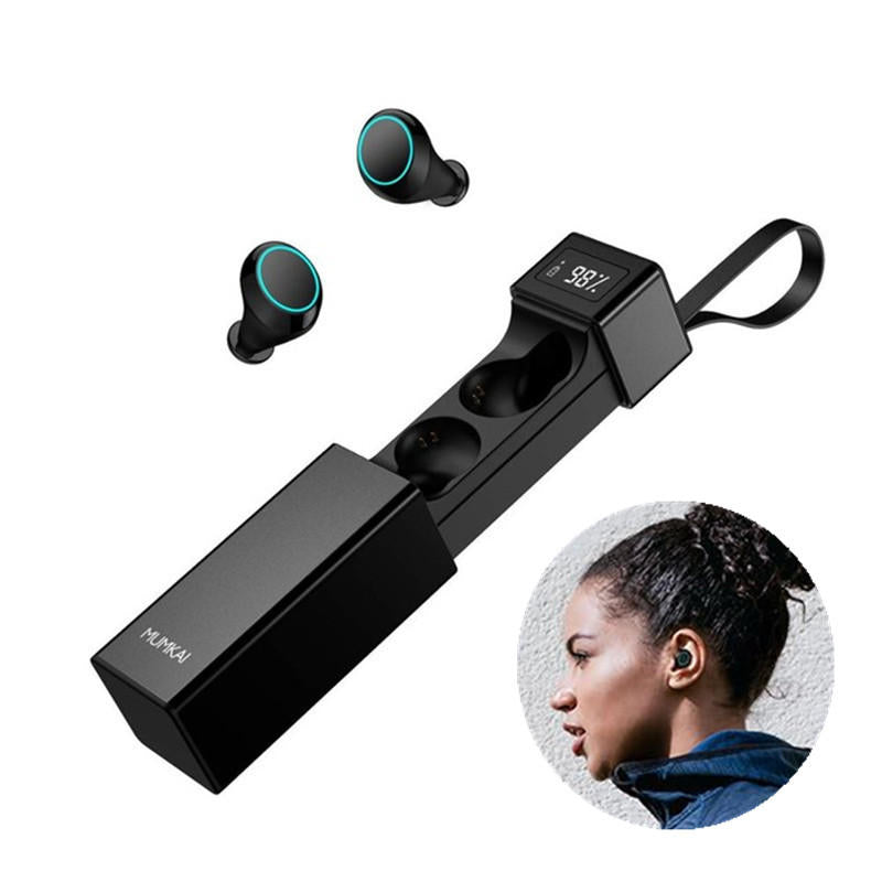 Bluetooth True Wireless HIFI Digital Display Earphone Touch Noise Cancelling Waterproof Sports Earbuds With Mic - Carolina Superstore