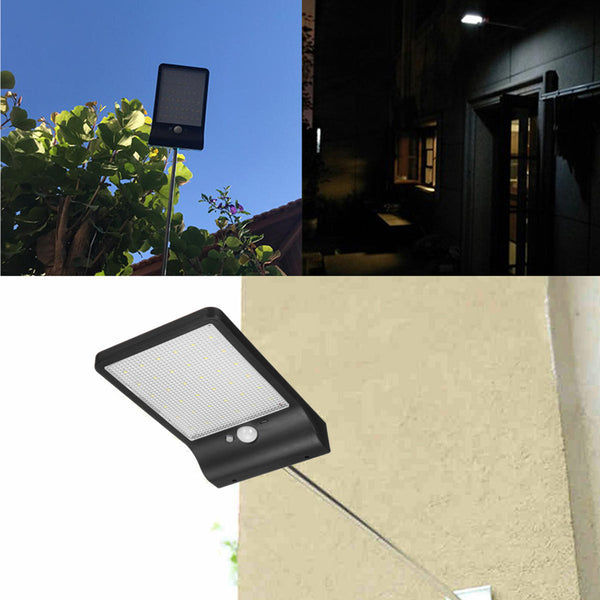 Hunters Creek™ Solar PIR Motion Sensor Outdoor Street Light Garden Security Wall Lamp - Carolina Superstore