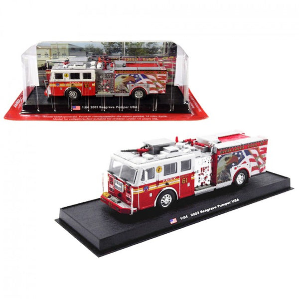 Cypress Creek™ 2003 Seagrave Pumper Fire Engine Never Forget Fire Department City of New York (FDNY) 1/64 Diecast Model by Amercom - Carolina Superstore