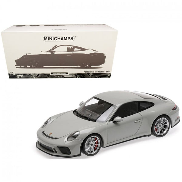 Cypress Creek™ 2018 Porsche 911 GT3 Touring Chalk Gray Limited Edition to 300 pieces Worldwide 1/18 Diecast Model Car by Minichamps - Carolina Superstore