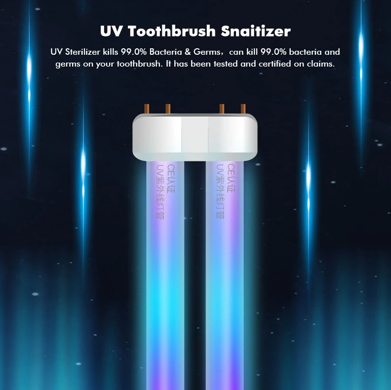 Hunters Creek™ UV Toothbrush Infrared Sterilizer Holder Automatic Toothpaste Dispenser Magnetic Suction Cup - Carolina Superstore