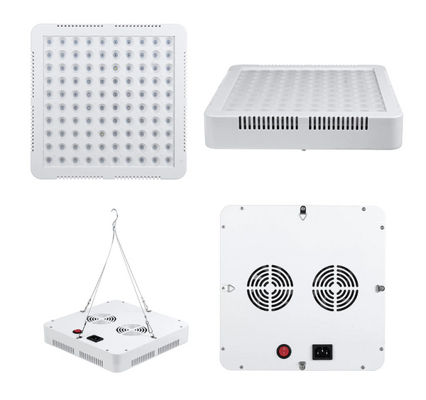 Hunters Creek Full Spectrum LED Grow Light Growing Lamp For Hydroponic Plant + 2 Fan New - Carolina Superstore