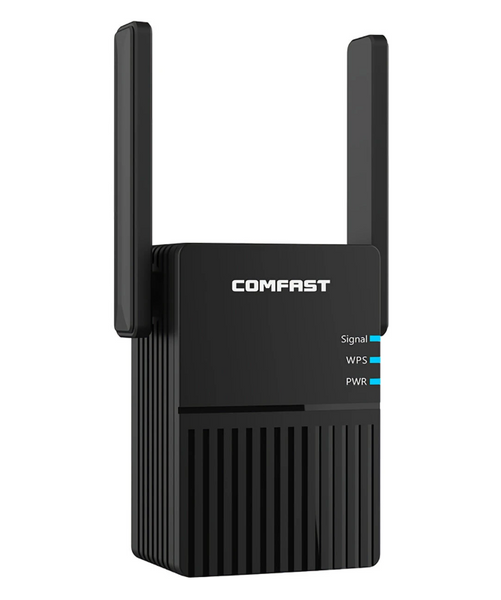 Hunters Creek™ COMFAST 5G WiFi Wireless Repeater WIFI Extender Signal Booster Gigabit Router Signal Amplifier - Carolina Superstore