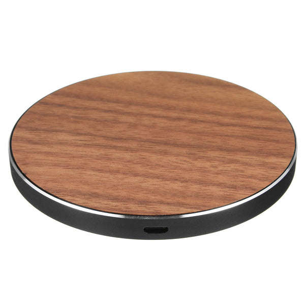 Hunters Creek™ Wireless Metal Wooden LED Fast Desktop Charger Pad for iPhone X 8 Plus S8 S9 Note 8 - Carolina Superstore