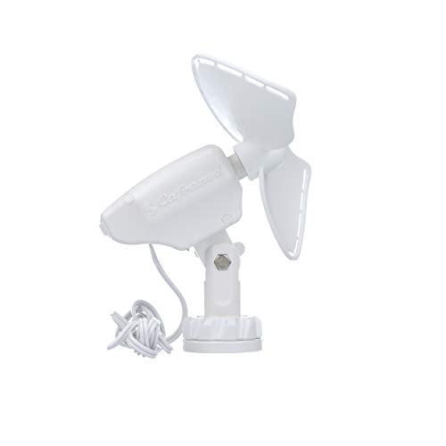 Caframo Ultimate 2-Speed 7 Fan Direct Wire White Maximum airflow - Carolina Superstore