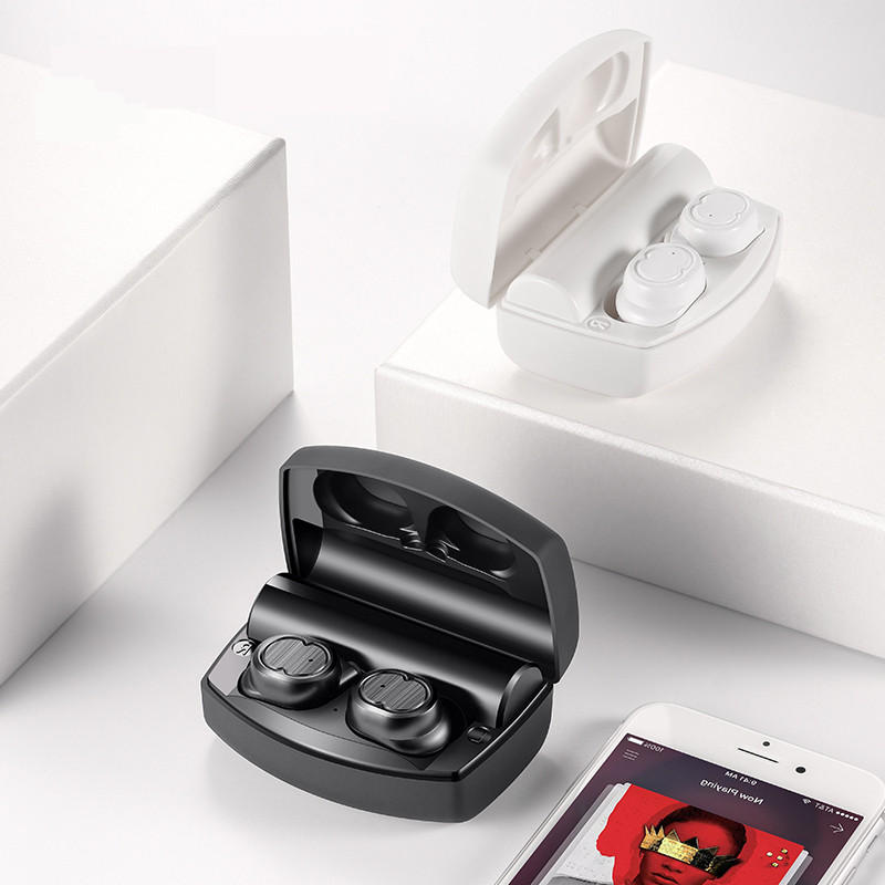 Buetooth Earphone Hi-Fi Headset Binaural Stereo Waterproof Headphone Power Bank Charger - Carolina Superstore