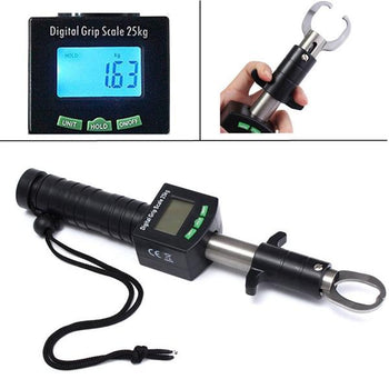 Electronic Control Device Fish Lip Tackle Gripper Grab Tool Fishing Grip Digital weighing Scale - Carolina Superstore