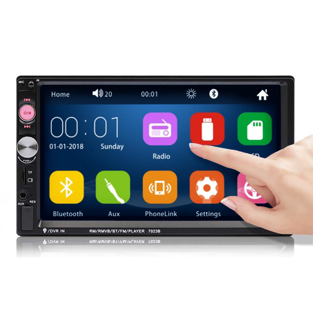 Car Stereo Radio MP5 Player HD Bluetooth Touch Screen Support Rear Camera - Carolina Superstore