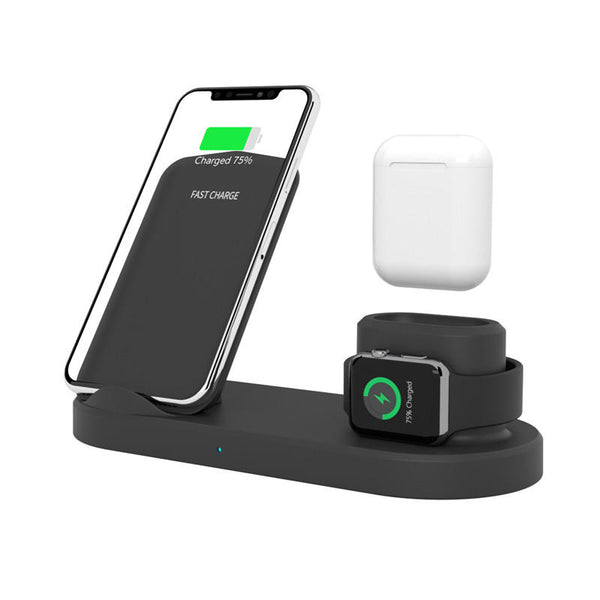 Wireless Charger Watch Earbuds Samsung Smart Phone Holder iPhone Apple Watch Air Pods - Carolina Superstore