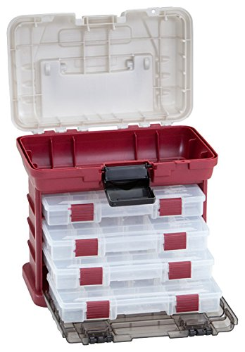 Plano Play 4-By Rack System Red Metallic/Silver Stowaway Utility Box Tool Storage - Carolina Superstore