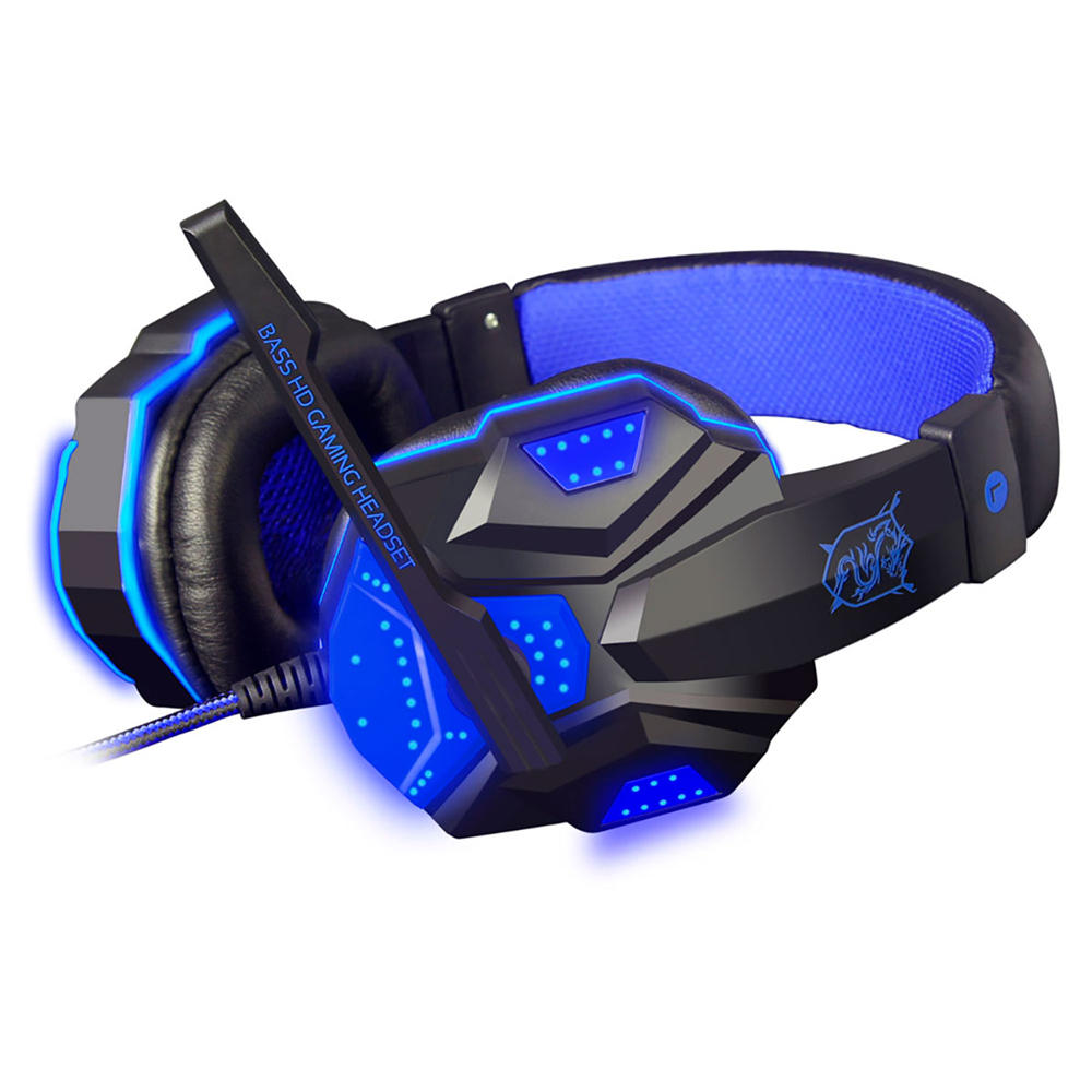 Wired Gaming Headphone Stereo Sound Headset With Microphone LED Audio Cable - Carolina Superstore