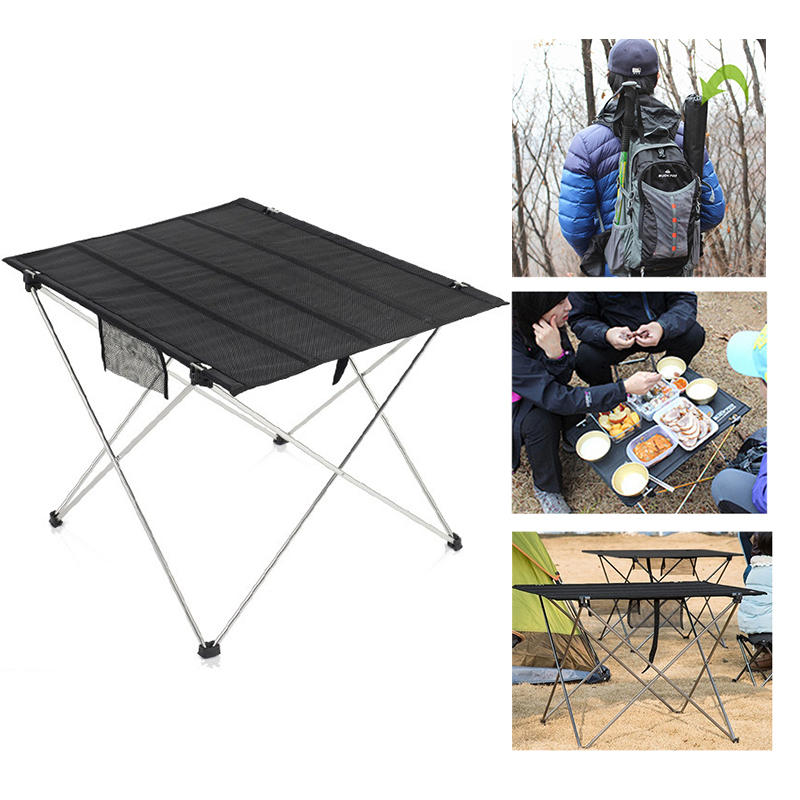 Outdoor Portable Folding Table Camping Traveling Picnic BBQ Foldable Table-Black - Carolina Superstore