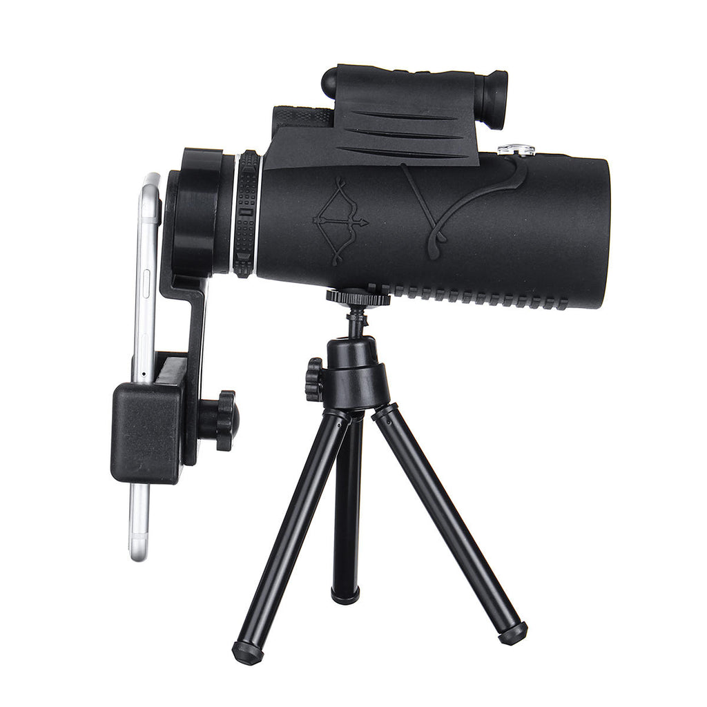 Hunters Creek Smart Zoom Telescope Monocular HD Optical Illumination Laser Tripod Mobile Phone Clip - Carolina Superstore
