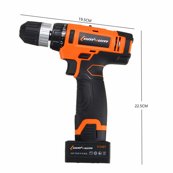 Hunters Creek™ Electric Drill Power Drill Two Speed Power Drills Tool Lithium battery - Carolina Superstore