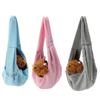 Hunters Creek™ Reversible Small Dog Cat Sling Carrier Bag Travel Double Sided Pouch Shoulder Carry Handbag - Carolina Superstore