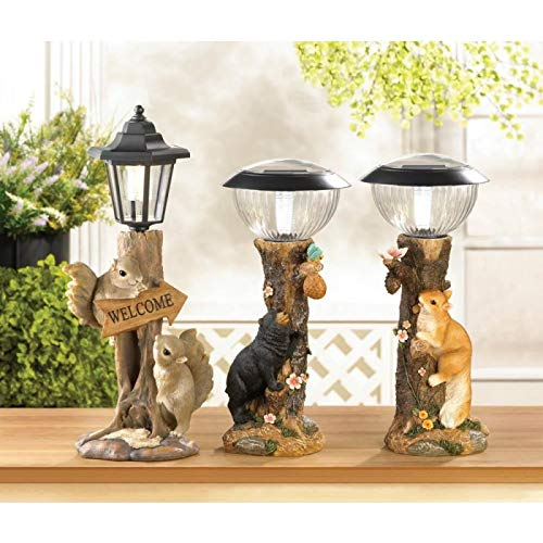 Friendly Squirrels Solar Lamp Lights Lighting Home Decorations - Carolina Superstore