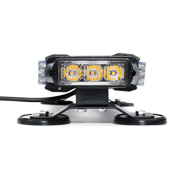 Double Side Traffic Strobe Flash Light Bar Amber Emergency Lamp Magnetic Mount Universal - Carolina Superstore