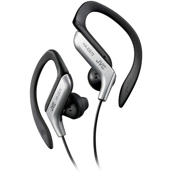 JVC Ear-clip Earbuds Silver Sports Headphones Earphones Headset - Carolina Superstore