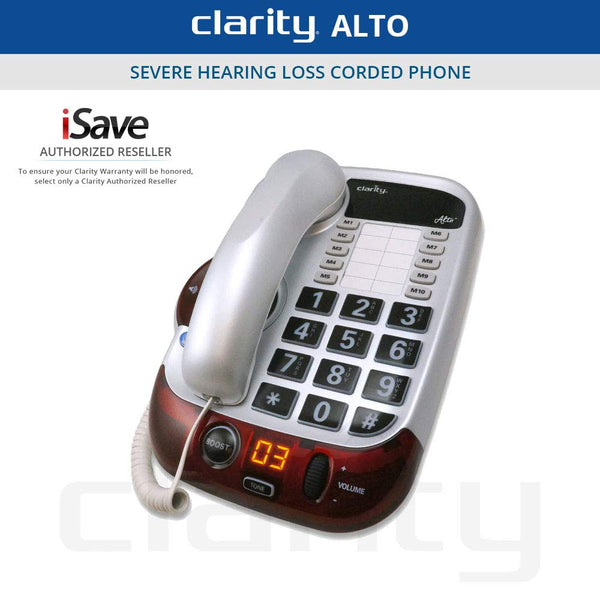 Clarity(R) Alto(TM) Amplified Corded Landline Phone System Telephone - Carolina Superstore