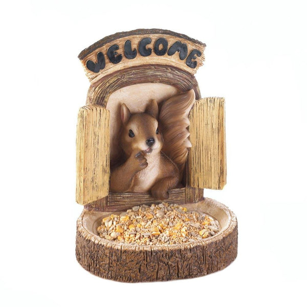 Welcome Squirrel Wall Hang Bird Feeder - Carolina Superstore
