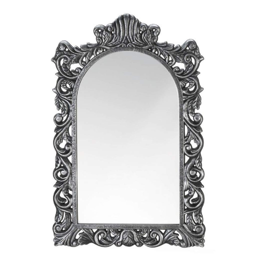 Grand Silver Wall Mirror Home Furnishing Furniture Decoration - Carolina Superstore