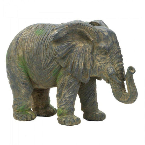 Weathered Elephant Statue Home Furnishing Decor Decorative Accessories - Carolina Superstore